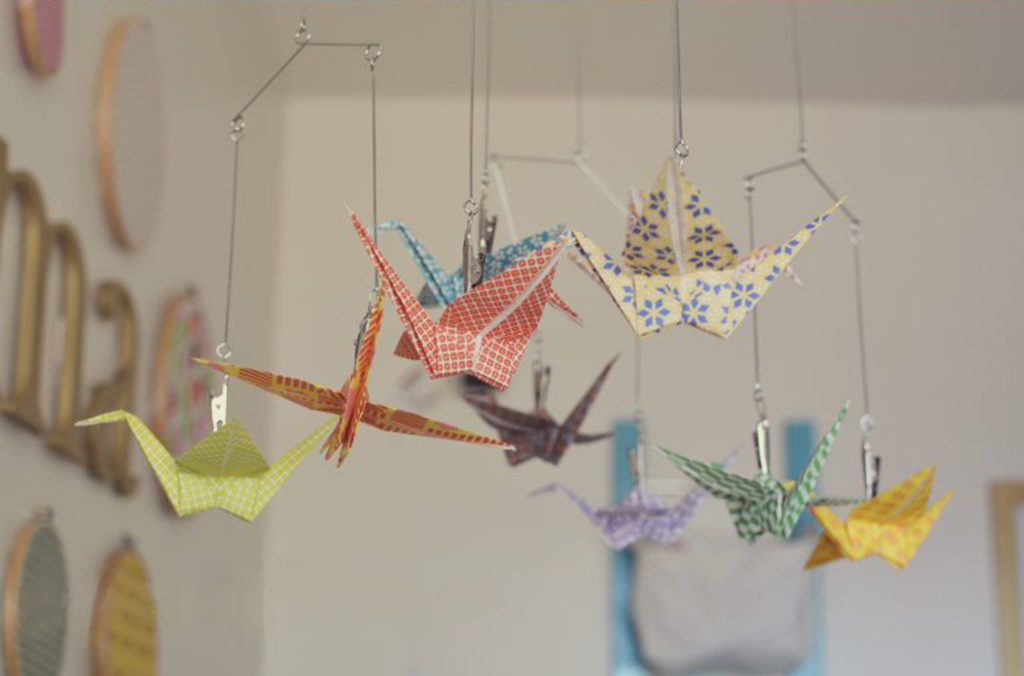 nursery-mobile-of-paper-cranes