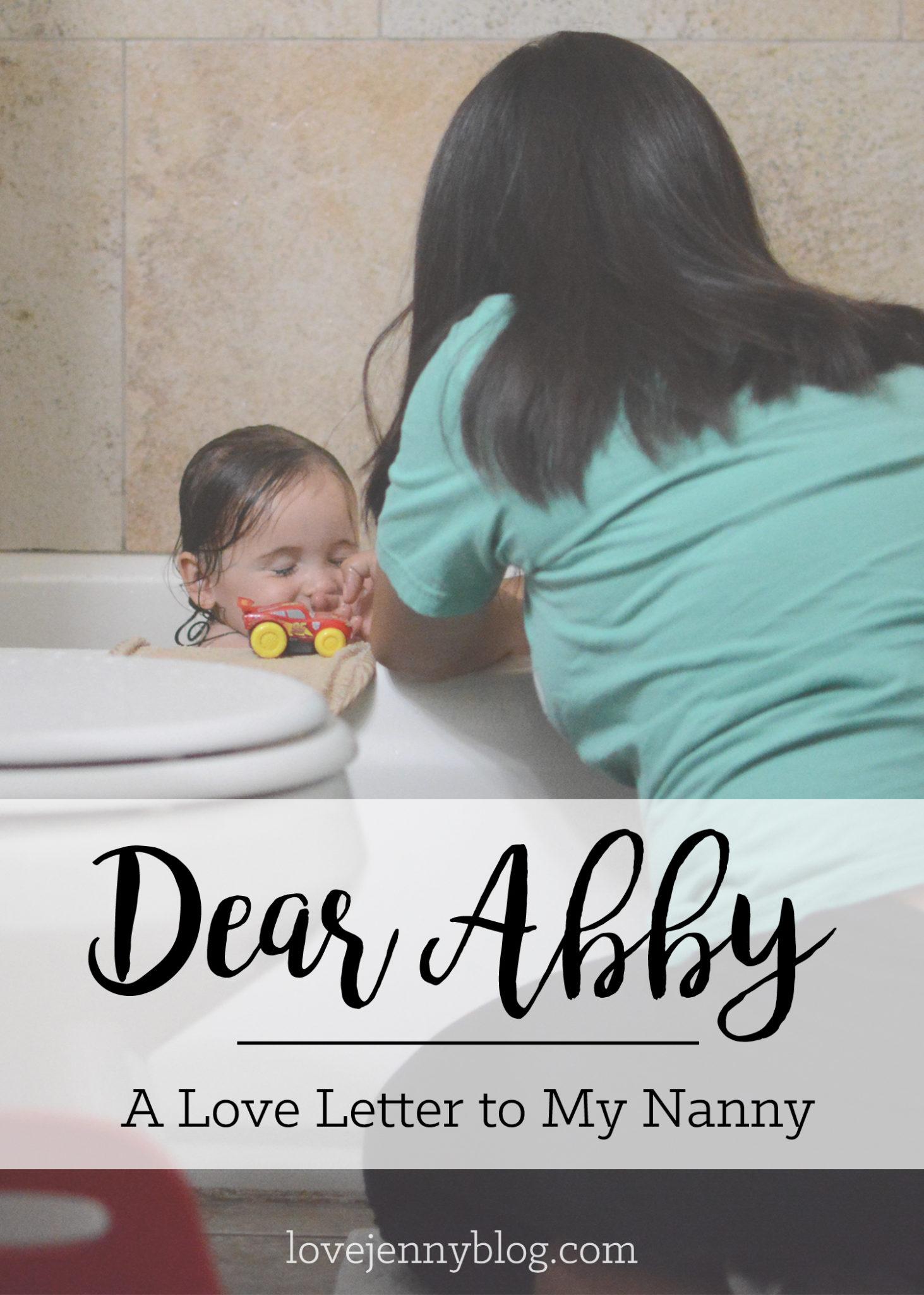 Dear Abby: A Love Letter to My Nanny