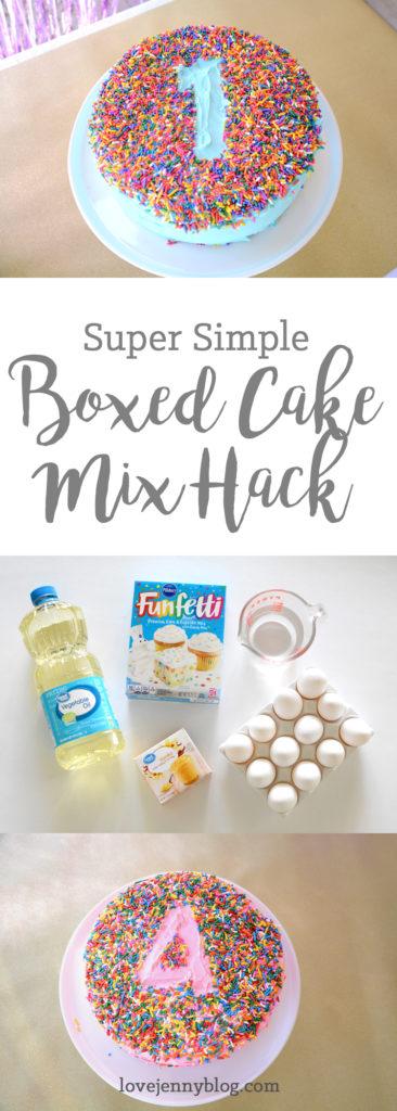 boxed cake mix hack pinterest image