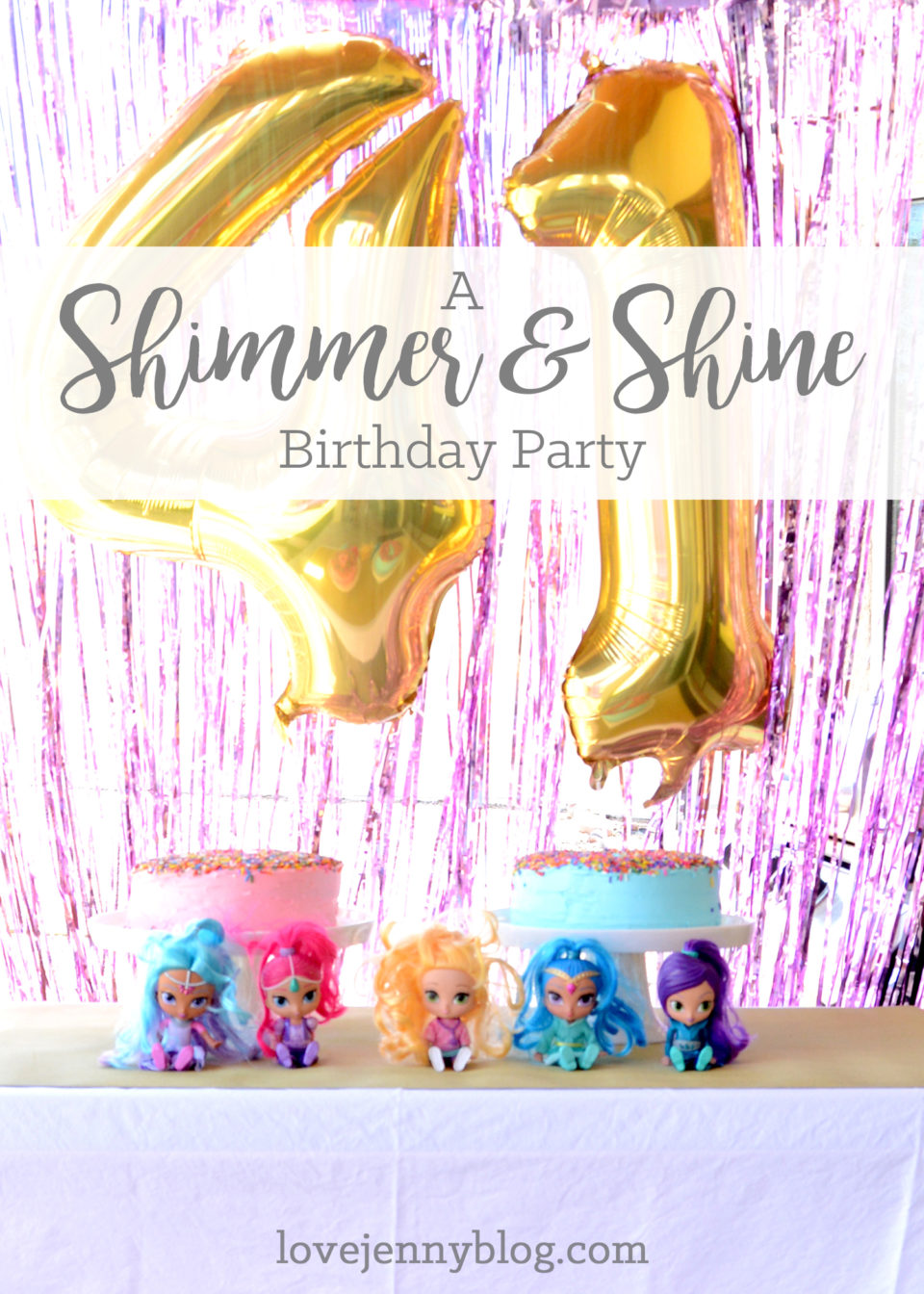 A Shimmer and Shine Birthday Party