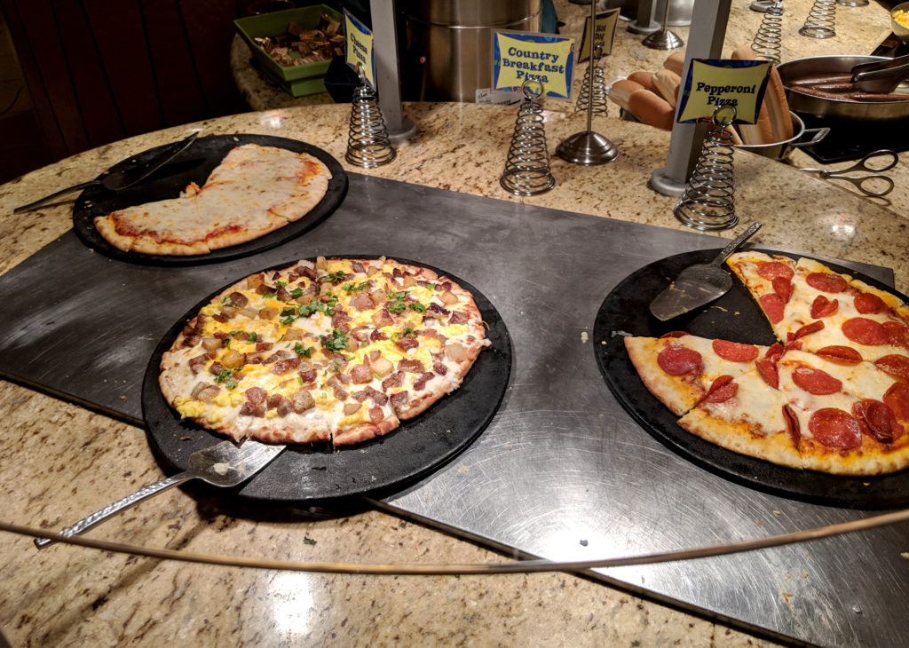 pizza options at goofy's kitchen resturant