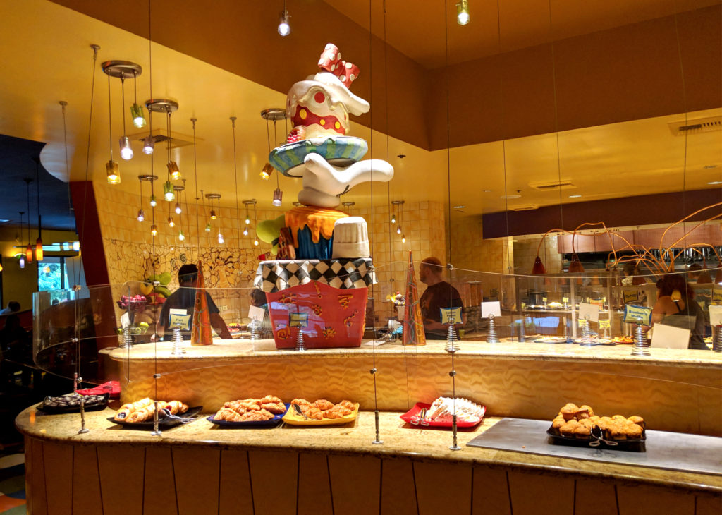 pastry buffet at goofy's kitchen resturant
