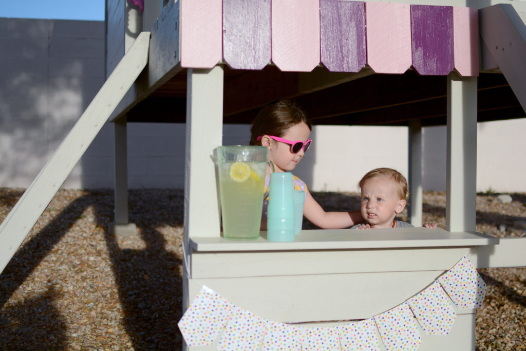 DIY Playhouse with Slide