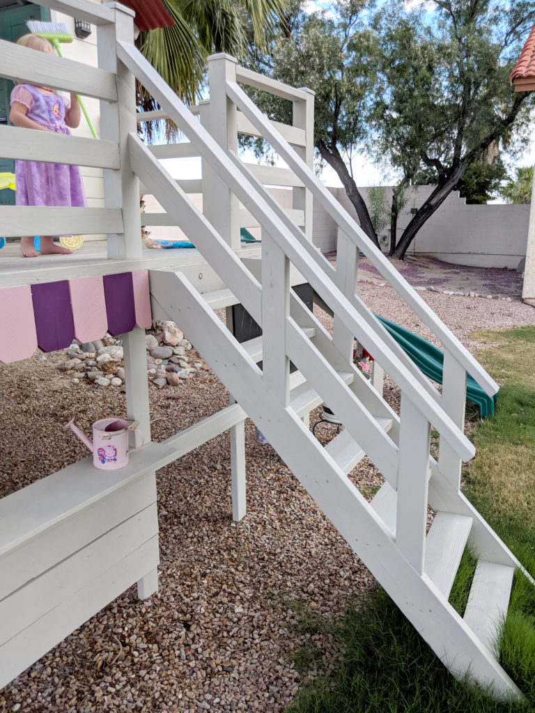 DIY Playhouse Stairs